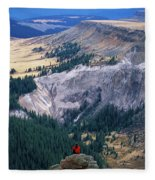 Camping On The Colorado Trail Fleece Blanket
