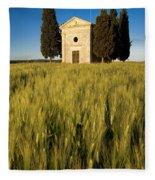 Cappella Di Vitaleta Fleece Blanket