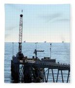 Carpinteria Pier Fleece Blanket