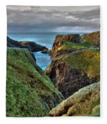 Carrick-a-rede Rope Bridge Fleece Blanket