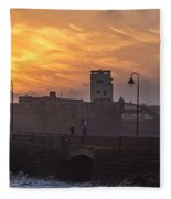 Castle Of Saint Sebastian Cadiz Spain Fleece Blanket