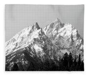 Cathedral Group Grand Teton National Fleece Blanket