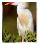 Cattle Egret Adult In Breeding Plumage Fleece Blanket