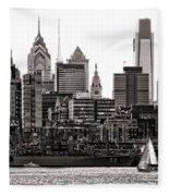Center City Philadelphia Fleece Blanket