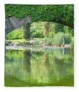 Central Park Gapstow Bridge II Fleece Blanket