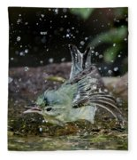 Cerulean Warbler Fleece Blanket