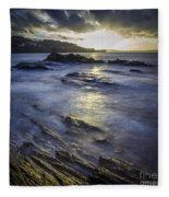 Chamoso Point In Ares Estuary Galicia Spain Fleece Blanket
