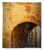 Chania Alley Fleece Blanket