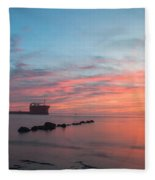 Charleston Harbor Sunset Fleece Blanket