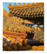 China Forbidden City Roof Decoration Fleece Blanket
