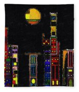 Chinatown Fleece Blanket