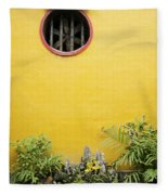 Chinese Temple Garden Detail In Vietnam Fleece Blanket
