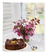 Chocolate Cake Fleece Blanket