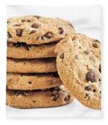 Chocolate Chip Cookies Fleece Blanket