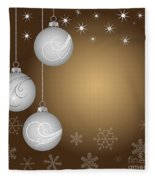 Christmas Background Fleece Blanket