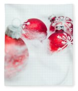 Christmas Decorations Fleece Blanket