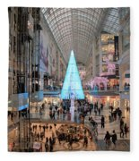 Christmas Shopping In Toronto Fleece Blanket