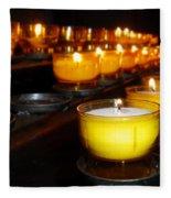 Church Candles Fleece Blanket
