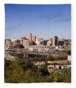 Cincinnati, Ohio Fleece Blanket