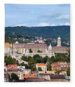 City Of Budapest Fleece Blanket