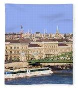 City Of Budapest In Hungary Fleece Blanket