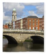 City Of Dublin Fleece Blanket