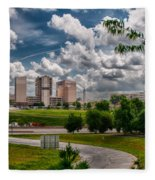 City Streets Of Charlotte North Carolina Fleece Blanket