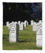 Civil War Dead At Arlington Fleece Blanket
