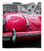 Classic Red P Sports Car Fleece Blanket