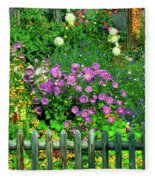 Close-up Of Flowers, Muren, Switzerland Fleece Blanket