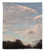Clouds Above The Trees Fleece Blanket