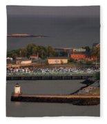 Coastal Life In Maine Fleece Blanket