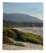 Coastal View - Ice Plant  Fleece Blanket