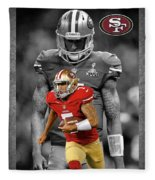 Colin Kaepernick 49ers Fleece Blanket