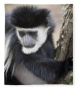 Colobus Monkey Fleece Blanket