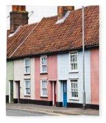 Colorful Houses Fleece Blanket