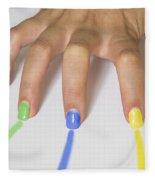 Colorful Nails Fleece Blanket
