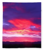 Colourful Arizona Sunset Fleece Blanket