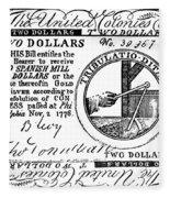 Continental Banknote, 1776 Fleece Blanket