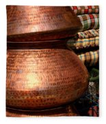 Copper Pots Fleece Blanket