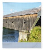 Cornish-windsor Covered Bridge IIi Fleece Blanket