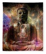 Cosmic Buddha Fleece Blanket