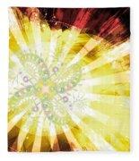 Cosmic Solar Flower Fern Flare 2 Fleece Blanket by Shawn Dall