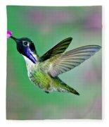 Costas Hummingbird Fleece Blanket