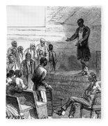 Cotton Plantation, 1867 Fleece Blanket