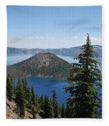 Crater Lake Oregon Fleece Blanket