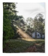Crepuscular Rays In Alabama Fleece Blanket