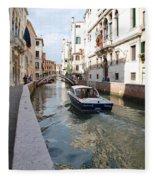 Cruisin' The Canals Fleece Blanket