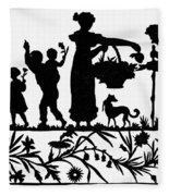 Cut-paper Silhouette Fleece Blanket