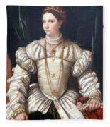 Da Brescia's Portrait Of A Lady In White Fleece Blanket